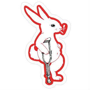 Минимальный. Order составляет 10 ( заказ ) эксклюзивный продаж костыли кролик коробка наклейки-водонепроницаемый персонализированные ноутбук наклейки