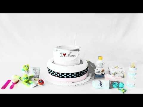 Diaper cake - torte di pannolini - pannolini cakes
