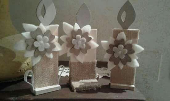 candele in legno