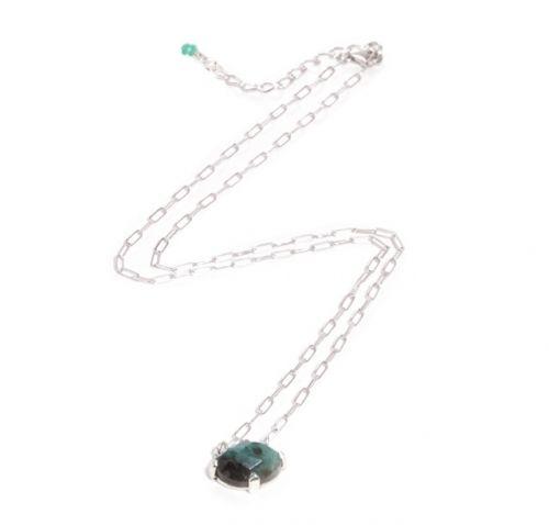 Emerald Necklace Silver
