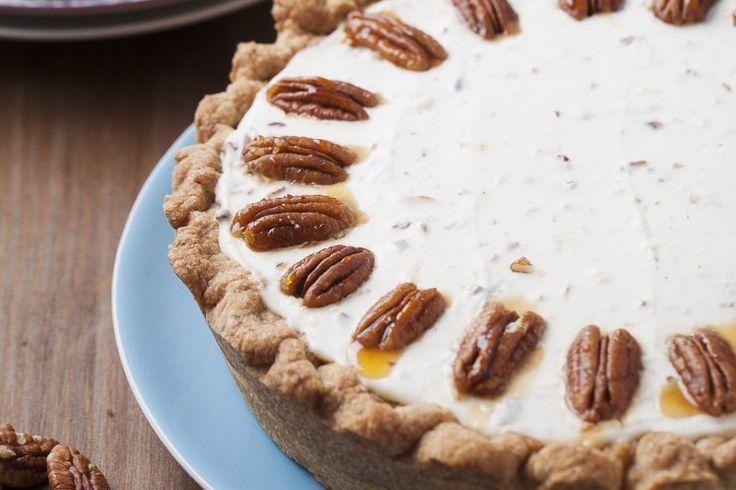 Sernik na zimno z orzechami #pecan #delektujemy #delecta #nuts #desert #cake