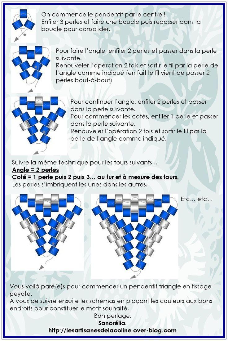 Perle peyote : tuto pendentif triangle
