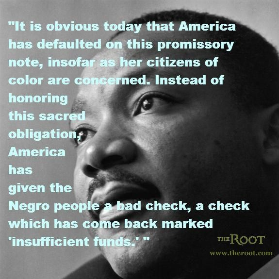 Martin Luther King Jr. on America's Debt to Black People