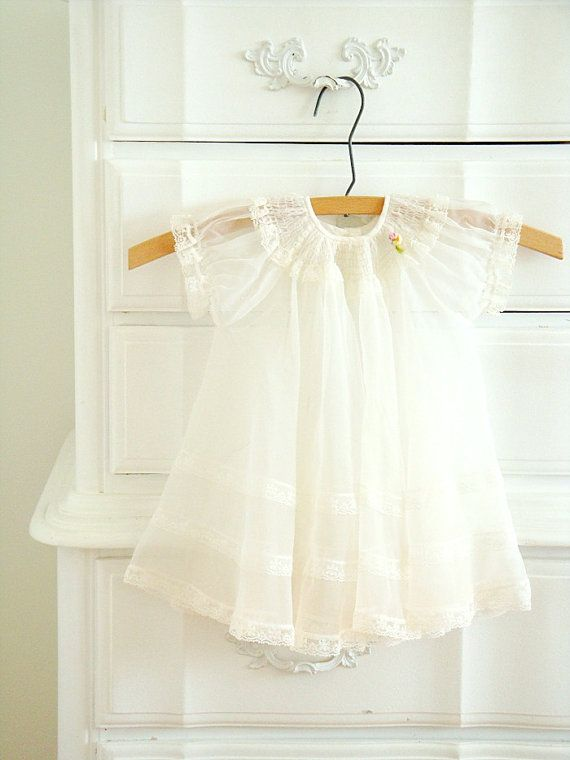 White lace baby dress by FadedPlains