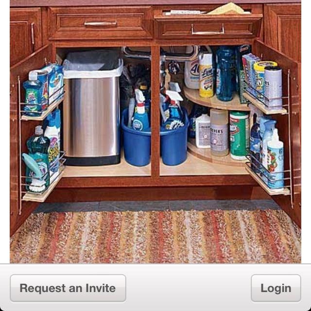 Organizing Under The Kitchen Sink In A Small Space Trash Under Sink Wish