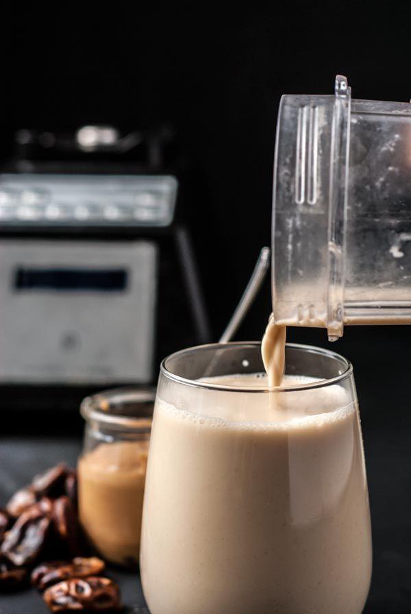 recipe for the easiest cashew milk you'll ever make! No soaking or straining required! #vegan #dairyfree #refinedsugarfree