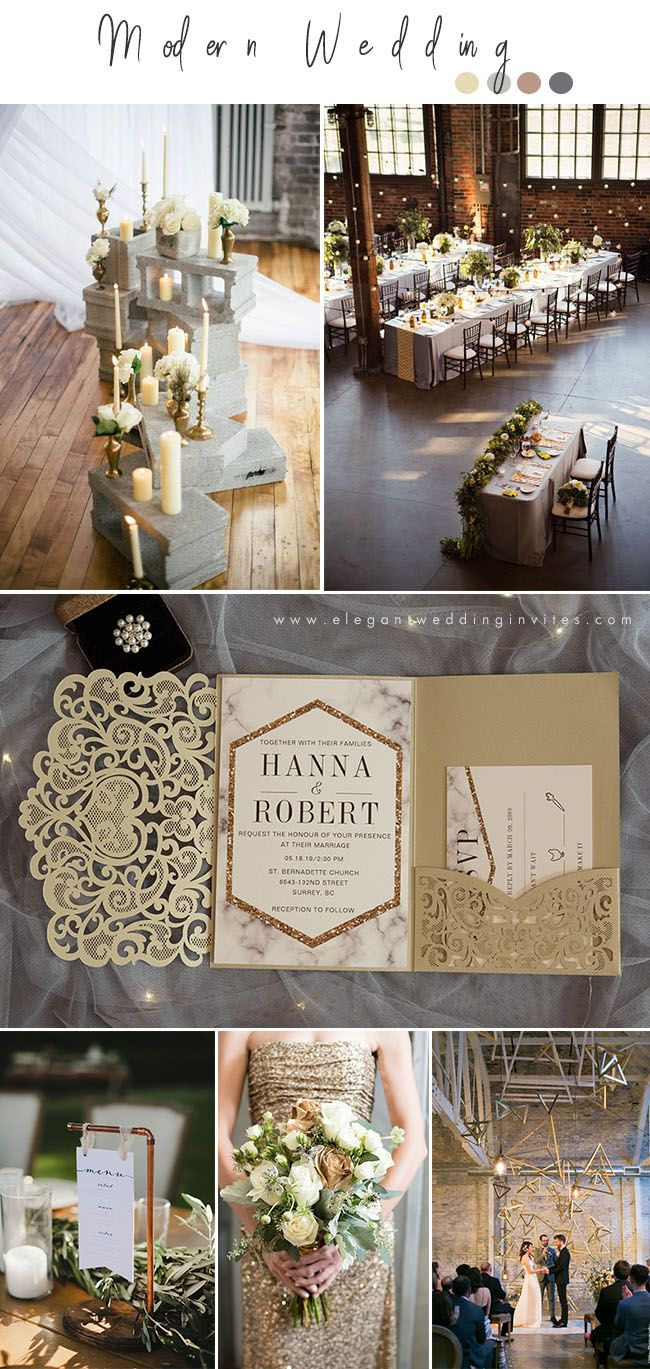 wedding trends 2019: chic industrial style wedding ideas