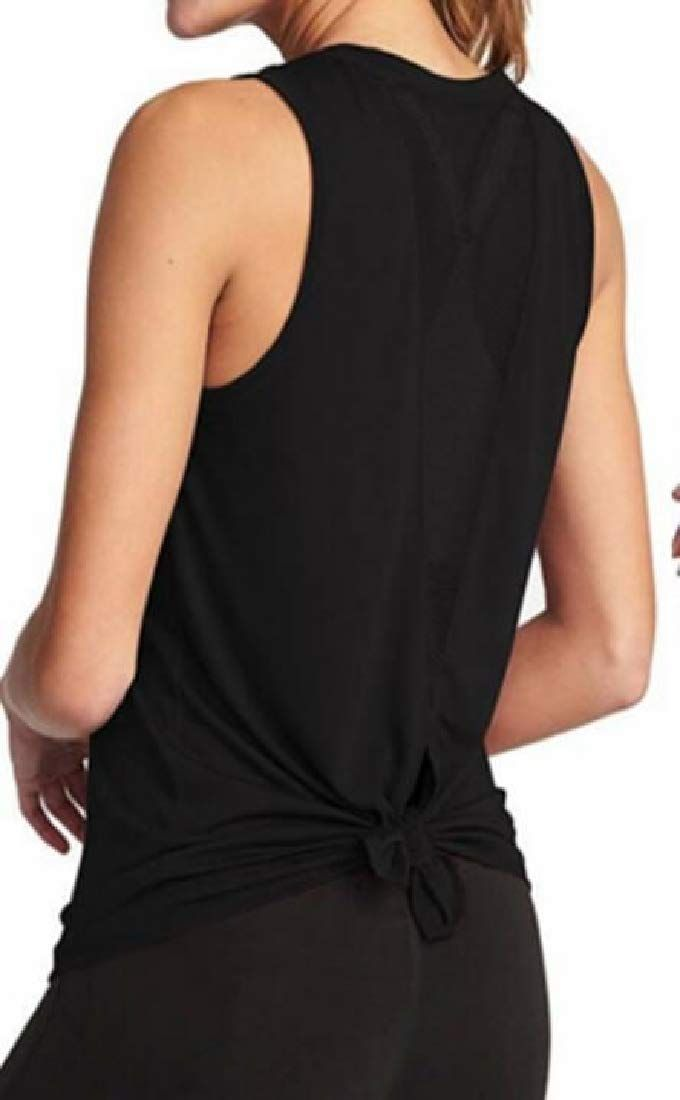 GOWOM Women Summer Loose Button V Neck Cami Tank Tops Vest Blouse