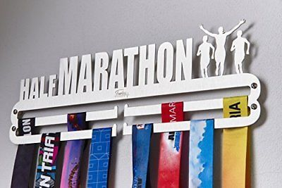 Half Marathon Sport Medal Display Hangers Stainless Steel Rack With Hooks For 30