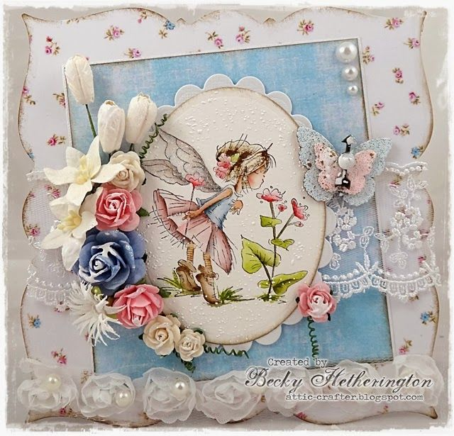 LOTV - Fairy Tiptoe with paper from the Shabby Shack pad by DT Becky