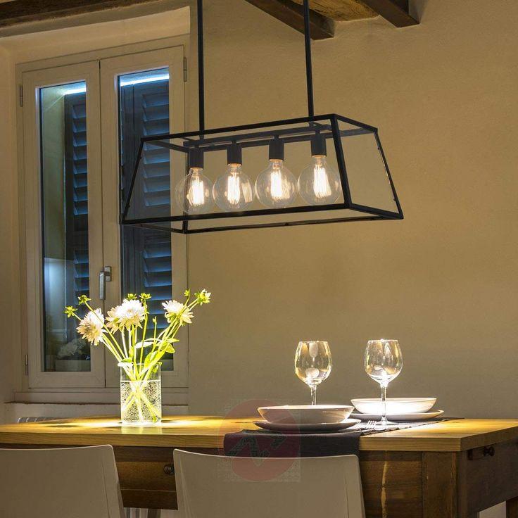 Quadrupla lampada Rose con look industriale disponibile su Lampade.it (N.art: 3507193)