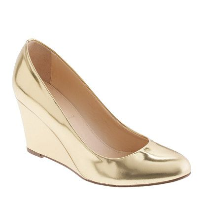 "Martina metallic wedges/Y'all can call me ""granny"" all you want...I LOVE some shiny gold shoes!!"