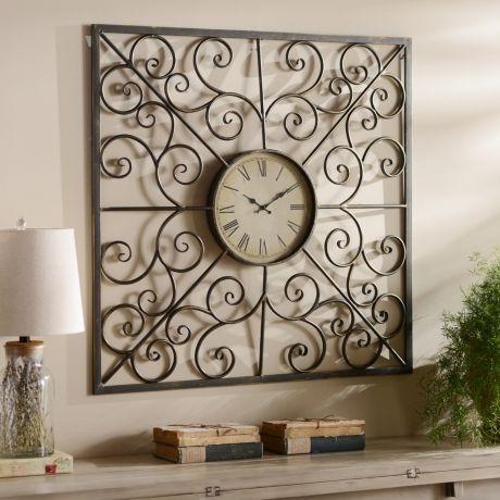 swirls metal clock recycled home decormetal