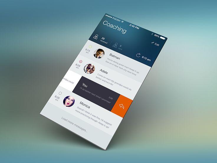 Coaching iOS7 concept - by Julia Khusainova | #ui