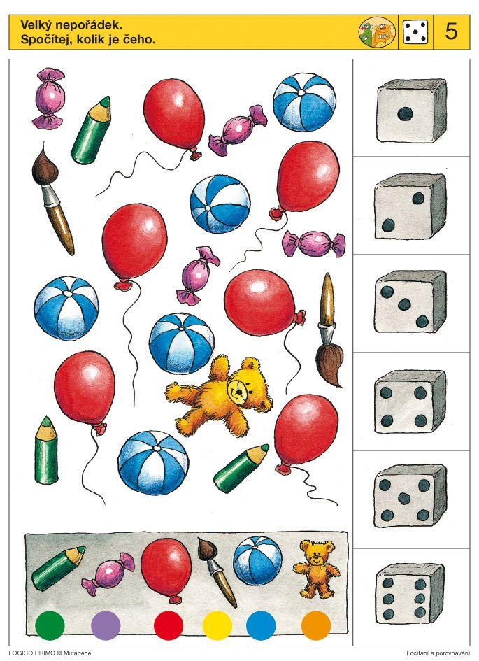 LOGICO PRIMO | Pro děti od 4 let | Počítání a porovnávání | Didaktické pomůcky a hračky - AMOSEK