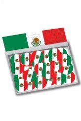 150 Confettis drapeau Mexique
