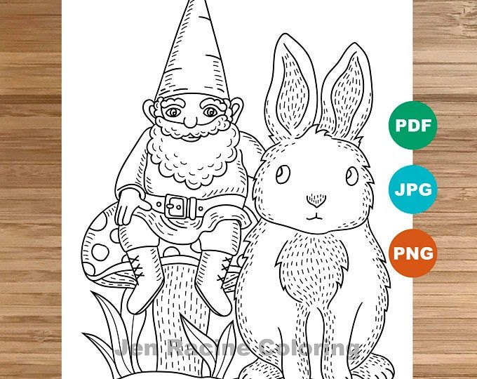 35+ Gnome coloring pages printable info