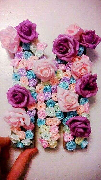 Diy rose letter