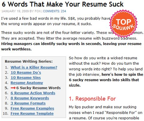 6 words that make your resume suck wise advice my friend wise