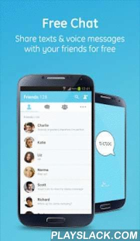 Tictoc - Free SMS & Text  Android App - playslack.com ,  Chat with friends anytime, anywhere with Tictoc. Join 22million+ people who call, text and share on Tictoc, for free! Tictoc is available on mobile, PC and the web, so you never miss a thing. Unlock the power of being connected on the go. Join Tictoc with your friends and family. ---------------- • Free chat with your friends • Free domestic & international voice calls • Crystal clear call sound quality• Tictoc does not collect…