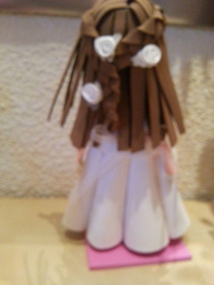 peinado, con dos trenzas y florecitas
