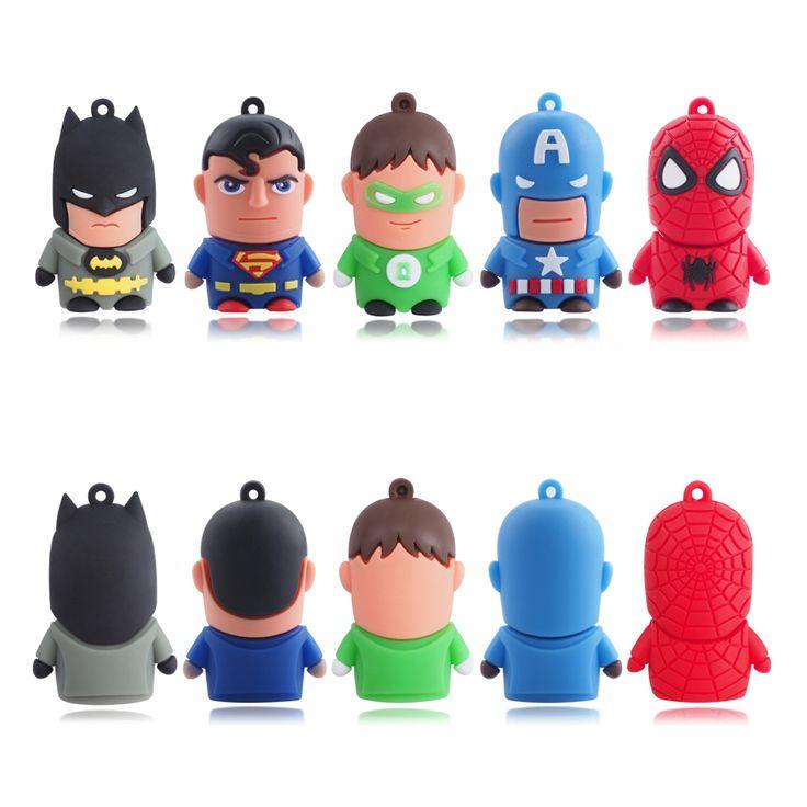 3,09€ - 12,71€ - Super Héroe Batman Superman USB Flash Drive Pen Drive 4 GB 8 GB 16 GB 32 GB 64 GB USB Memory Stick USB de Dibujos Animados 2.0 disco de usb stick fiable proveedores en WANSENDA Official Store