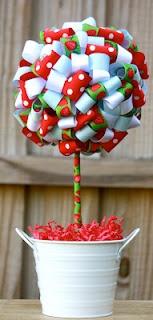 Strawberry themed - Ribbon Topiary