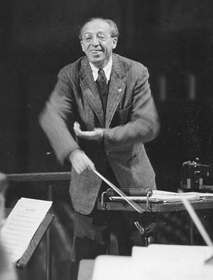 Composer/conductor Aaron Copland
