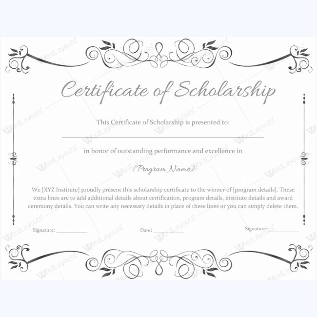 9 best award certificate images on Pinterest Award certificates - award certificate template for word