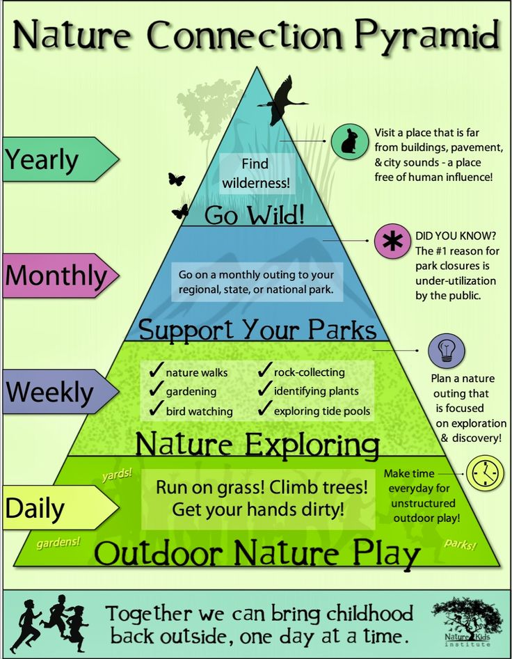 """The Nature Kids Institute Presents """"The Nature Connection Pyramid"""" 