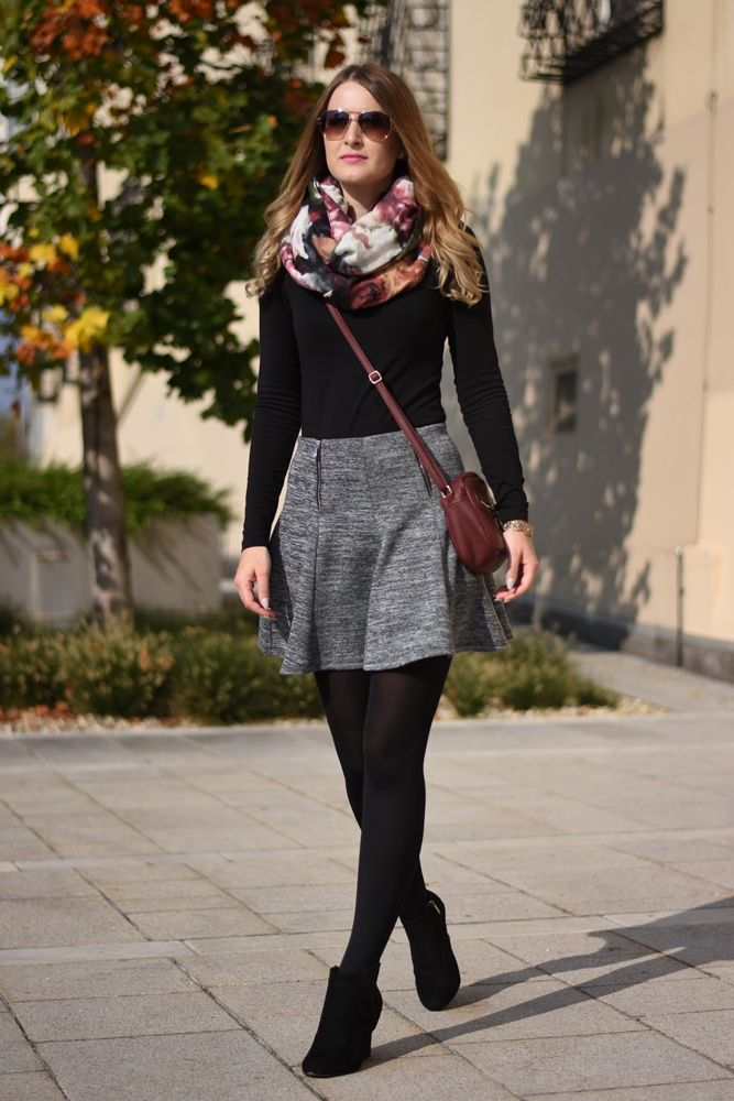 Grey Skirt Ootd Mode Winter Outfits Outfits Und Gray Skirt