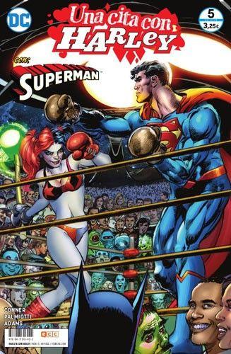 En el rincón rojo, llegado en cohete desde el planeta Krypton y alimentado por el sol amarillo de la Tierra, el Hombre de Acero... ¡Superman! En el rincón ¡¿rojo también?! (OK, OK, sigo leyendo), enloquecida durante años en el Asilo Arkham, alimentada por toda una vida de delincuencia y bromas pesadas como pareja del Joker, la Más Grande el persona... ¡Harley Quinn! Con el arte del legendario Neal Adams, os damos la bienvenida al homenaje definitivo a una de las mejores historias de…