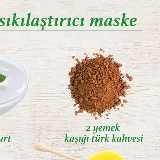 Yüz sıkılaştırıcı maske tarifi;👇 2 yemek kaşığı türk kahvesi, bal ve yoğurdu karıştırarak cildinize sürün, yarım saat bekletin ve ılık suyla yıkayın. ... - f. özbağ - Google+