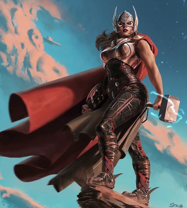 Thor by Dustsplat. Epic picture, but people really need to stop with the boob-plate.