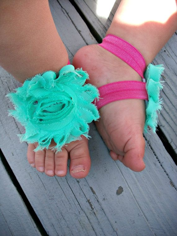 Baby Barefoot Sandals by LovelyLiliesBoutique, $6.50
