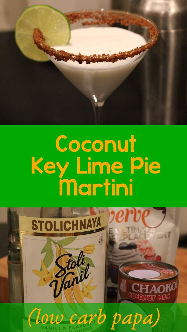 coconut key lime martini low carb
