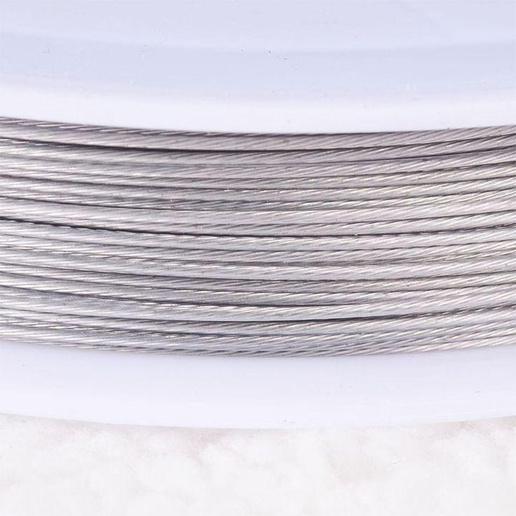 Проволока из нержавеющей стали 0.45 мм обычный серебряный tigertail бисероплетение провода, Шнур темы пластиковой защитной пленки проволоки купить на AliExpress