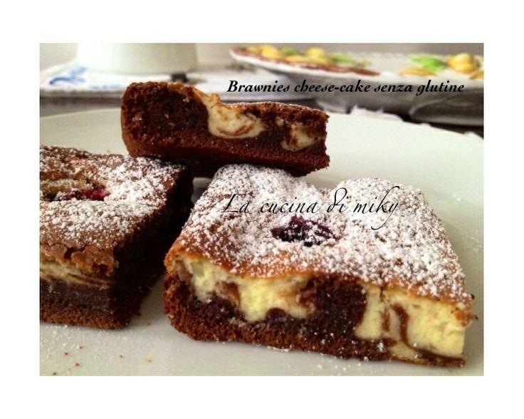 Cheese-cake Brownies al cioccolato senza glutine