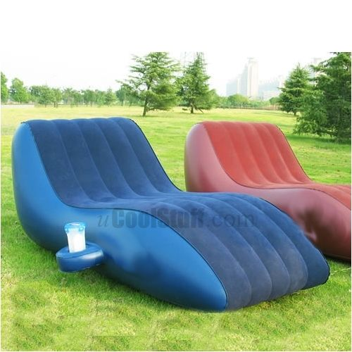 ATTENTION: Birthday present? Hint hint!  Wink wink!   S-Shape Inflatable Outdoor Sofa