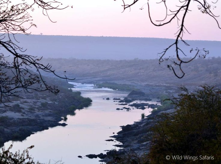 View out over the Olifants River from the Olifants rest camp lookout, Kruger National Park, South-Africa