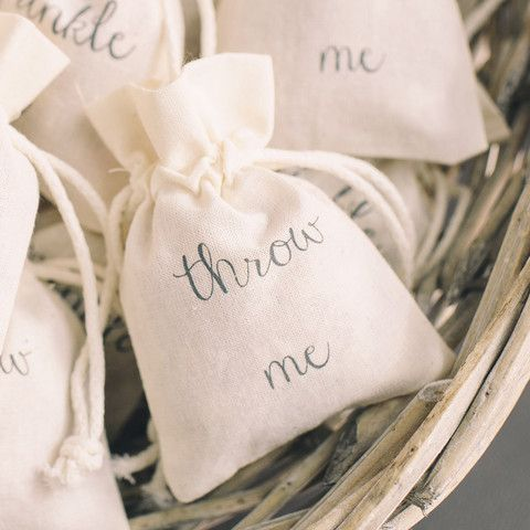 Throw Me Confetti Cotton Bag - The Wedding of My Dreams #theweddingofmydreams @The Wedding of my Dreams