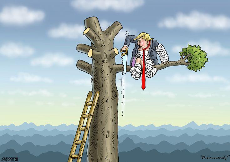 Next on Trump's agenda: quitting he Paris climate deal? Today's cartoon by Marian Kamensky: https://www.cartoonmovement.com/cartoon/39990