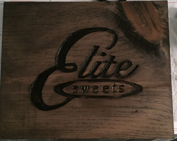 Hand Carved Business Sign