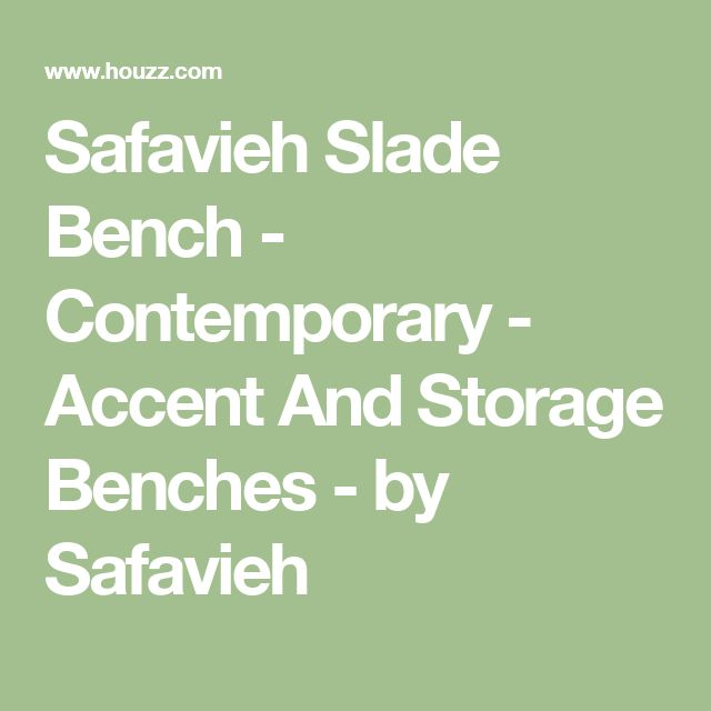 Safavieh Slade Bench - Contemporary - Accent And Storage Benches - by Safavieh