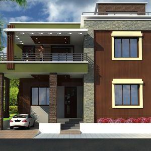 Modern Home Front View Design Designs Ideas Online Mansion Of My