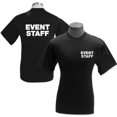 """Event staff shirts or wedding """"concert"""" shirts for bar staff to wear to hang behind bar"""