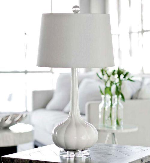 Milano Snow Glass Table Lamp white decor stylish design everyday ...