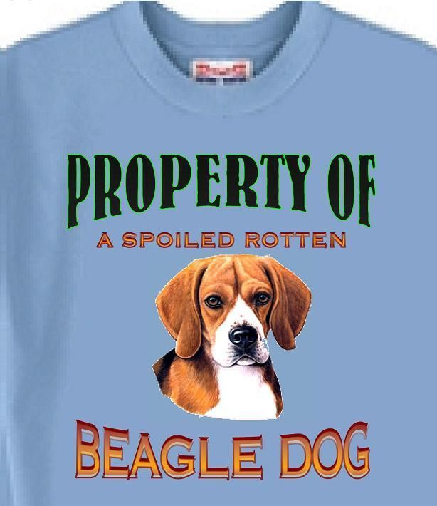 Dog T Shirt Property Of A Spoiled Rotten Beagle Adopt Animal