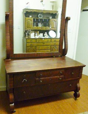 Innis and Pearce Company Walnut Lowboy Dresser with Beveled Mirror Circa 1915 1   eBay.....49---24d