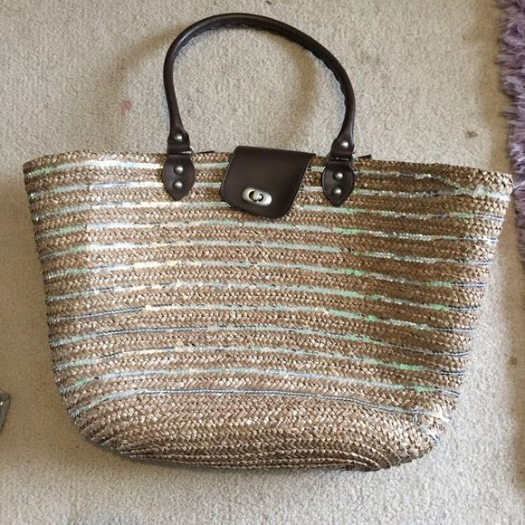 woven beach bag woven beach bag with silver sequence from target Calypso beach line! Bags Totes